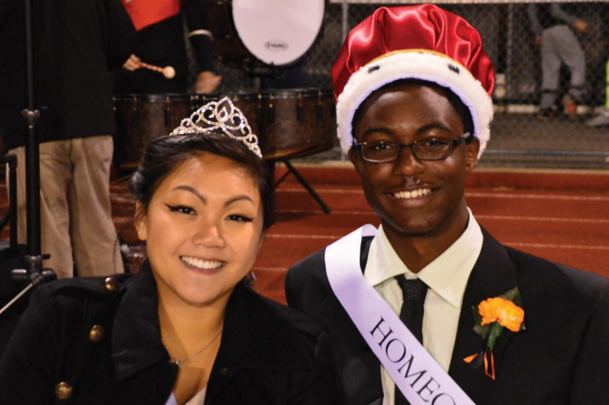 Photographed+above+is+Homecoming+King+Ross+G.+and+Queen+Anne+F..+The+Arrows+won+against+Madison+in+the+Homecoming+football+game.+