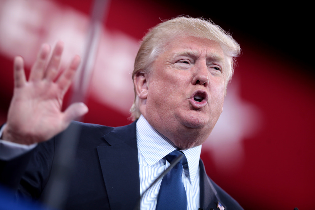President Donald Trump speaks at the 2015 Conservative Political Action  Conference in Maryland.