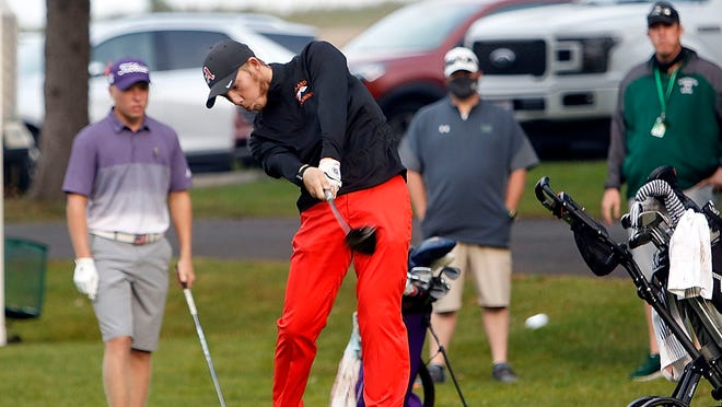 Ashland's Tyler S.(11) hits off the tee at the OCC Championship